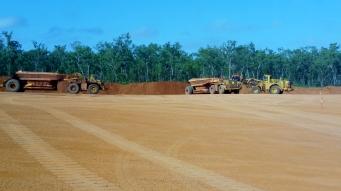 Bauxite mining.